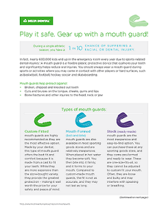 mouth guard flyer
