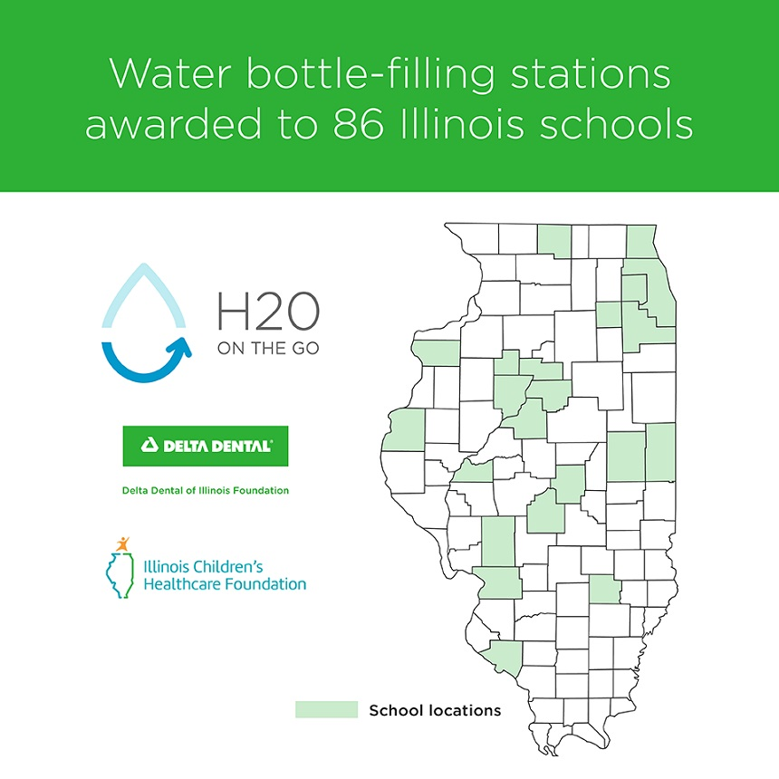 86 Illinois schools to receive new water bottle-filling stations