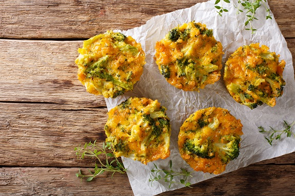 Easy Broccoli, Cheese and Egg Muffins