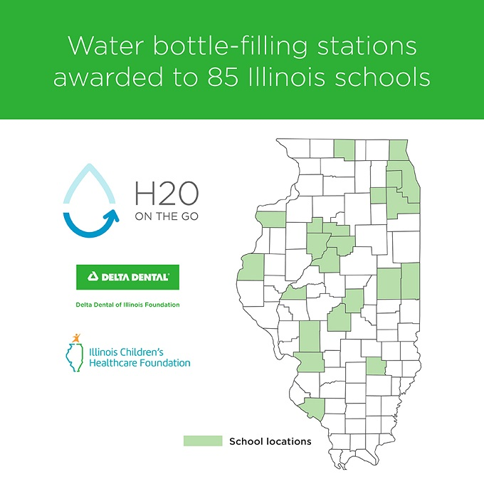85 Illinois schools to receive new water bottle-filling stations