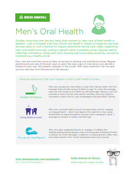 Men's Oral Health Flyer