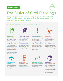 The Risks of Oral Piercings