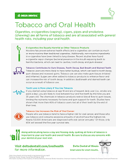 Tobacco and Oral Health